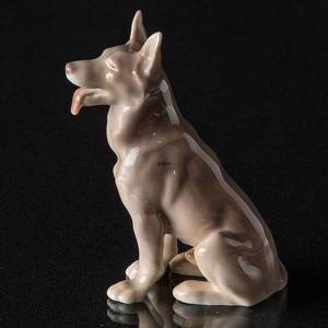 German Shepherd sitting, Bing & Grondahl dog figurine