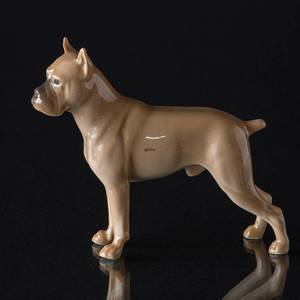 German Boxer standing at attention, Bing & Grondahl dog figurine
