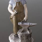 Blacksmith working the anvil, Bing & Grondahl figurine