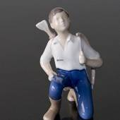 Boy with bow and arrow, Little Robin Hood, Bing & Grondahl figurine No. 232...