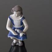 Girl with Pigeon, feeding it lovingly, Bing & Grondahl figurine