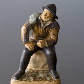 Fisherman looking longingly to the sea, Bing & grondahl stoneware figurine