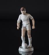 Soccer player in white, Boy playing Ball, Bing & Grondahl figurine