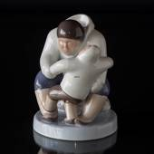 Greenlander ( Inuit) with Child, Bing & Grondahl figurine