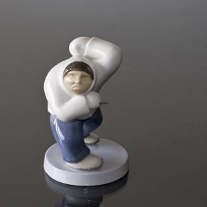 Male Greenlander ( Inuit) angry and yelling, Bing & Grondahl figurine | No. B2415 | DPH Trading