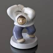 Angry Greenlander Fists in the Air, Inuit, Bing & Grondahl figurine