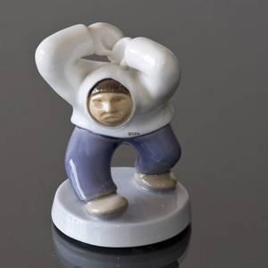 Angry Greenlander Fists in the Air, Inuit, Bing & Grondahl figurine | No. B2417 | DPH Trading