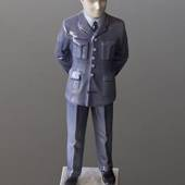 Military pilot in uniform to serve and protect, Bing & Grondahl figurine