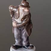 Sofus the jolly tramp finding a coin, Bing & Grondahl vagabond figurine