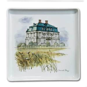 Dish with the Eremitage palace, Bing & Grondahl, deigned by Mads Stage