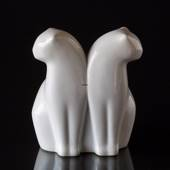 Pair of cats looking away, Bing & Grondahl figurine No. 4201