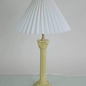 Pillar-lamp, light yellow