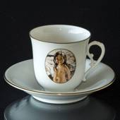 Carl Larsson service. Cup and saucer, Motif no 4 No. 4504-305, Bing & Grond...