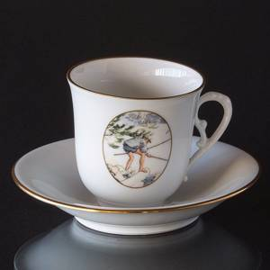 Carl Larsson service. Cup and saucer, Motif no 9 No. 4509-305, Bing & Grond...