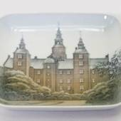 Dish with castle, Bing & Grondahl No. 534-455