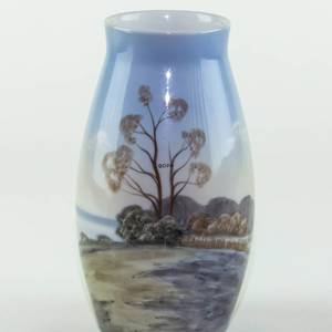 Vase with Landscape with tree, Bing & Grondahl No. 575-5247