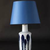 Table lamp with blue flowers, Bing & Grondahl