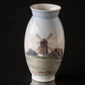 Vase with Windmill, Bing & Grondahl