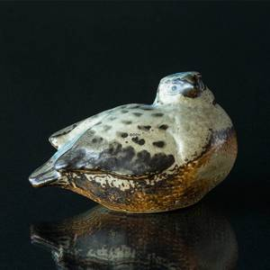 Stoneware Bird looking to the side figurine, Bing & Grondahl