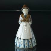 Lady in national costume, Bing & Grondahl ceramic figurine No. 7205