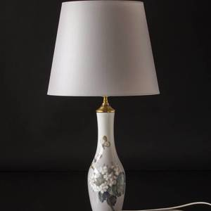 Lamp with flowery branch and butterflies, Bing & Grondahl No. 7516-228
