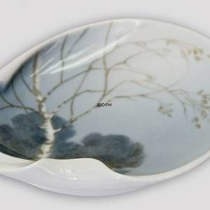 Dish with Birch and landscape, Royal Copenhagen | No. B8465-88 | DPH Trading