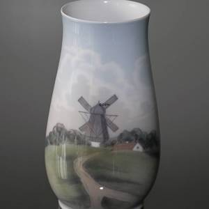 Vase with Landscape with mill, Bing & Grondahl
