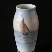 Vase with sailing boat, Bing & Grondahl