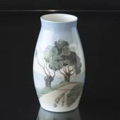 Vase with Landscape with trees, Bing & Grondahl No. 8676-247