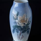 Vase with white rose flower, Bing & Grondahl No. 8743-243