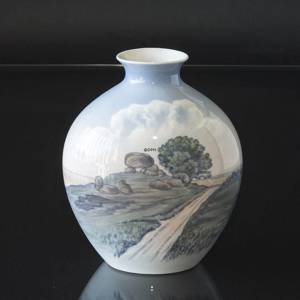 Vase with Landscape with Dolmen, Royal Copenhagen No. 8776-506 | No. B8776-506 | DPH Trading
