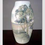 Vase with Dybboel Mill, Bing & Grondahl