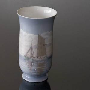 Vase with Ship Fishing boat, Bing & Grondahl