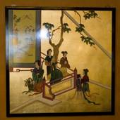 Chinese wall panel, Gold lady, handpainted