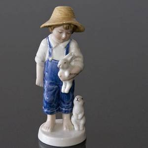 2001 Bing & Grondahl annual figurine, boy with rabbit | Year 2001 | No. BAF2001 | Alt. 1916801 | DPH Trading