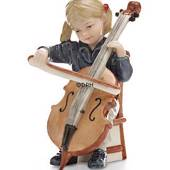 Emilie playing cello, Bing & Grondahl annual figurine 2005