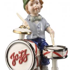 Martin playing the drums, Bing & Grondahl anuual figurine 2006