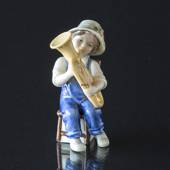 Marie playing the tuba, Bing & Grondahl annual figurine 2007
