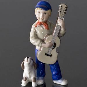 Alex playing the guitar, Bing & Grondahl annual figurine 2008