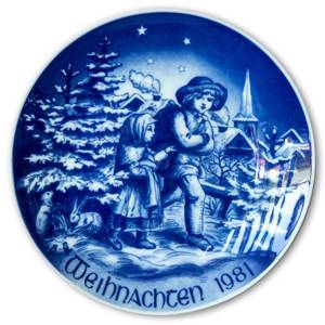 1981 Bareuther Christmas plate German | Year 1981 | No. BARX1981-T | DPH Trading