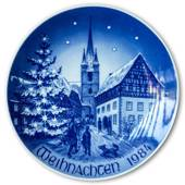 1984 Bareuther Christmas plate - German