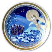 1982 Bavaria Christmas Plate Annunciation to the Shepherds