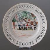 Carl Larsson Plate, Special edition, United States, Serie no. 1-2 - Lunch u...