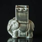 Elephant Stoneware figurine with tower on its back in Indian style - Matche...
