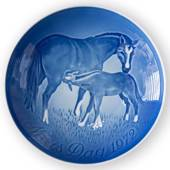 Horse with Foal 1972, Bing & Grondahl Mother's Day plate