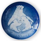 Polar Bear with Cubs 1974, Bing & Grondahl Mother's Day plate