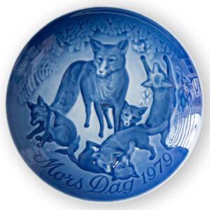 Fox with Cubs 1979, Bing & Grondahl Mothers Day plate | Year 1979 | No. BM1979 | Alt. 1902679 | DPH Trading