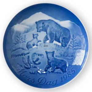 Bear with Cubs 1985, Bing & Grondahl Mother's Day plate