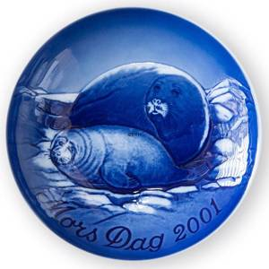 Seal with Pup 2001, Bing & Grondahl Mothers Day plate | Year 2001 | No. BM2001 | Alt. 1902701 | DPH Trading