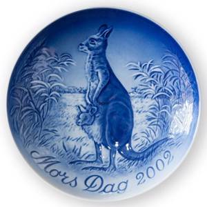 Kangaroo with joeys 2002, Bing & Grondahl Mothers Day plate | Year 2002 | No. BM2002 | Alt. 1902702 | DPH Trading